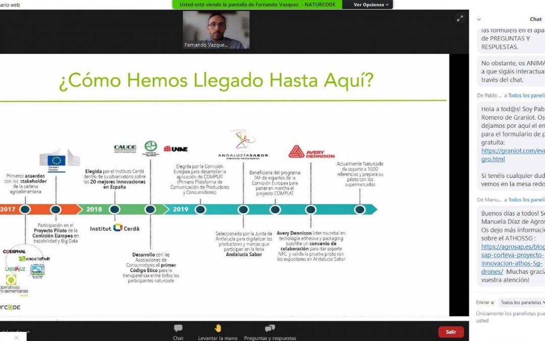 Naturcode participa como caso de éxito en la jornada sobre 'Digitalización de la industria alimentaria' de la Cámara de Comercio de Granada